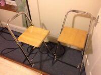 stools foldable pair