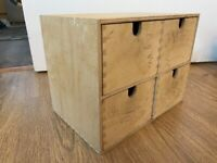 Desk organiser, mini chest of drawers