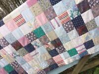Large Vintage Patchwork Quilt