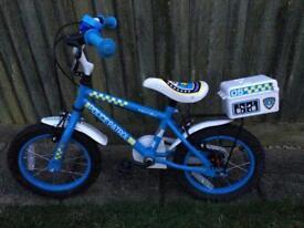 "Boys 14"" police bike"