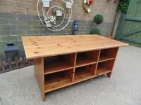IKEA PINE TV STAND/COFFEE TABLE IN GOOD CONDITION 120/60/53 cm £25