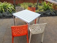 Patio table and 4 chairs (14 sets available but will split) great for garden.