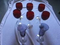 6 charm wine & 2 Prosecco glasses. ALL PERFECT IN IMMACULATE CLEAN CONDITION THANKS 😊