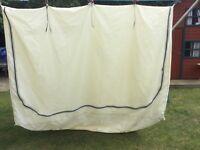 Trailer tent bedroom sleeping compartment.
