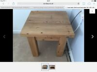 """Lamp table. Solid wood. 23"""" x 23"""" x 23""""."""