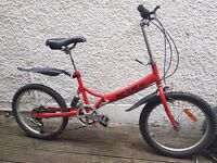 Folding bike - great condition ready to ride for adult or child