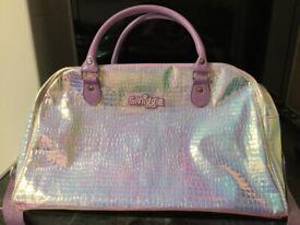 SMIGGLE Lilac Mock Croc Light Reflecting Weekend Bag - £5