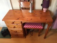 pine desk/dressing table