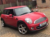2012 MINI COOPER 1.6 DIESEL MANUAL 3 DOOR HATCHBACK RED EXCELLENT DRIVE MOT FREE ROAD TAX N 1 SERIES