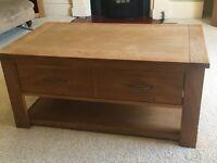 Next Cambridge soild oak coffee table with drawer