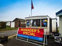 MANAGER SPECIAL STATIC CARAVAN FOR SALE, NR BRIDLINGTON, EAST COAST, BEACH ACCESS, SEA VIEW,