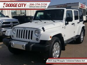2015 Jeep WRANGLER UNLIMITED Sahara | 4x4 | PST PAID - Uconnect,