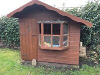 wooden wendy house good condition 6 foor x 4 foot