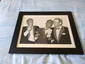 Hand stitched picture of Frank sanaatra Sammy lee davis fean martin the the rat pack.19/15