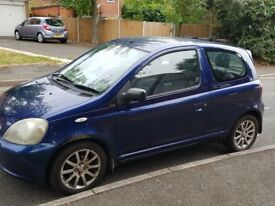 TOYOTA YARIS 1.3VVTI SR AIRCON SATNAV LONG MOT MUST SELL TODAY