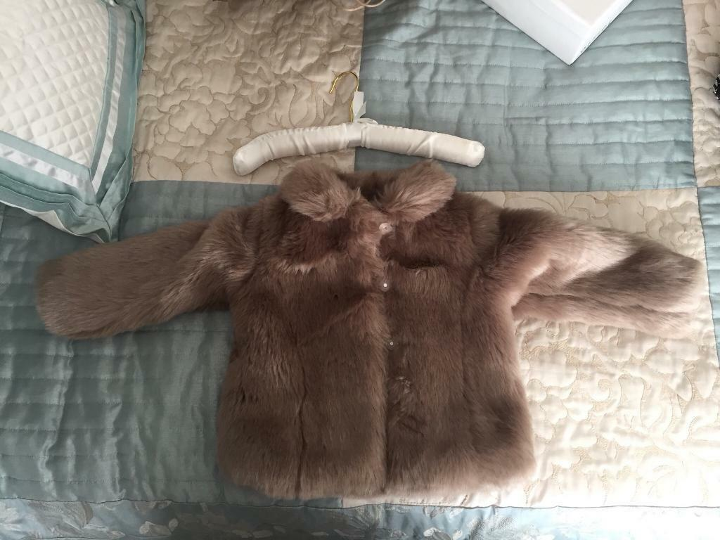 Rachel Riley Faux Fur Coat Age 3 Years