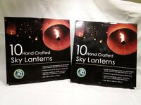 2 x boxes of 10 biodegradable Chinese sky lanterns - ideal for weddings - £7 each box of 10