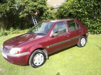 FORD FIESTA 1-2 LX ZETEC S 16v 5-DOOR 2000 X REG. 47,000 MILESONLY.