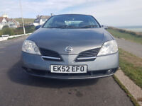 Nissan Primera P12 - 10 Months, MOT, New Tyres, Exhaust, After Market Radio | Spares or Repair