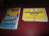 English GCSE and Maths GCSE Revision Cards
