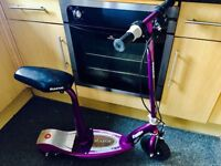 Razor e100s scooter purple seat with charger not working may be fixed