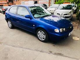 TOYOTA CORROLA 2001 AUTOMATIC LOW MILES LONG MOT IMMACULATE CONDITION £795