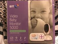 Video baby monitor 5000, with remote controlled pan and tilt and a 2.8 inch screen
