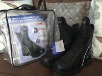 Motorbike boots - size 8