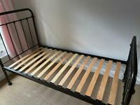 Single Bed with Mattress - Feather & Black