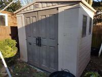 Keter 8x6 plastic garden sheds