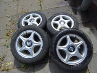 14 Inch 4x100 Alloy Wheels offset 35 and tires