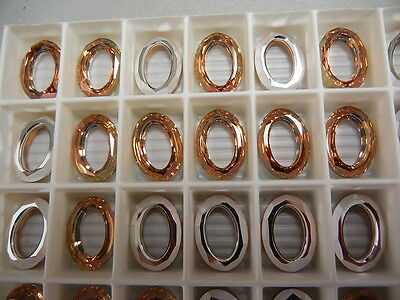 - 4 swarovski cosmic oval fancy stones,15x11mm crystal copper/CAL V SI #4137
