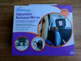 Adjustable backseat car mirror for baby