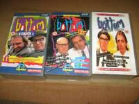 THE COMPLETE **** BOTTOM SERIES ON VHS ALL FOR £3 THE LOT.