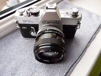 Canon FTb QL 35mm SLR Camera with FD 50mm 1:1.4 SSC Lens in Pristine Condition