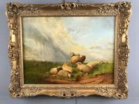 Thomas Sidney Cooper Oil Painting (1803 - 1902) Sheep May Safely Graze Original Antique Fine Art