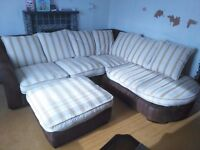 huge corner sofa and puff stool almost new