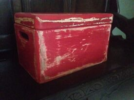 Wooden Upcycled Boxes - Painted Annie Sloan Emperor's Silk, Distressed and Wax Finish