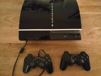 Sony Playstation 3 Original Black 2 Controllers plus many great games