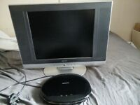 LCD tv and DVD player