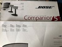 Bose Companion 5 PC Speakers. As new condition