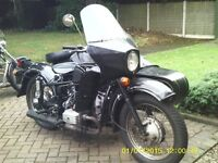 Dnepr Classic Neval Sidecar outfit 650cc UK spec. rideaway.