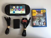 PS Vita Slim + charger + 1 game (Killzone Mercenary)