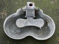 ANTIQUE WATER TROUGH/FEEDER BOWL. GALVANISED STEEL.