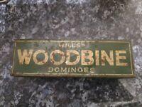 wills woodbine vintage domino set