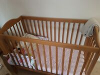 Wooden baby Cot very good condition
