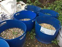 Large sturdy gardening waste garden storage barrels