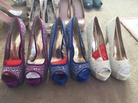 Embellished heels from very sz8 3 colours NEW
