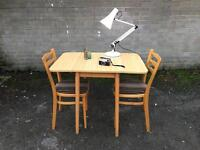 1960s-1970s TABLE AND CHAIRS FREE DELIVERY FORMICA TOP