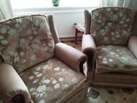 comfortable 2seater sofa with 2 armchairs